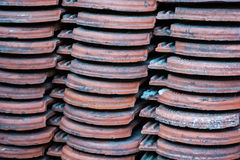 Old roof tile Stock Images
