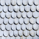 Old roof tile structure in grey Stock Photography