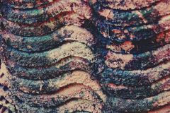 Old roof tile texture, vintage color stock image