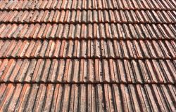 Old roof tiles as a background Stock Images