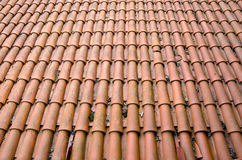 Old roof tiles background Stock Photo