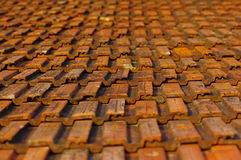 Old roof tiles. Background of old roof tiles Stock Photos