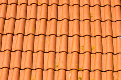 Old roof tiles. Background from red old roof tiles Royalty Free Stock Photo
