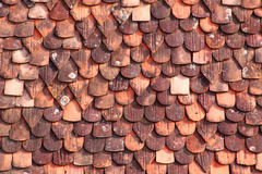 Old roof tiles. Of different shapes royalty free stock photos