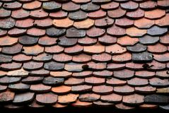 Old roof tiles pattern Royalty Free Stock Images