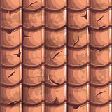 Old Roof Tiles Seamless Background Royalty Free Stock Image