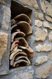 Old roof tiles of Spain stock photography