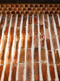 Old Roof Tiles Wall Stock Image