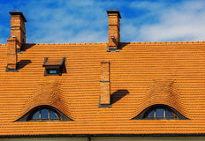 Old roof, window Royalty Free Stock Photo