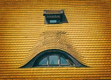 Old roof, window Stock Photo