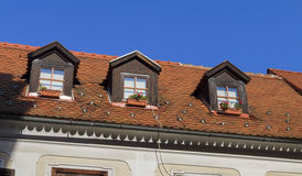 old roof windows Royalty Free Stock Photo