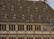Old roof windows strasbough france repairs Royalty Free Stock Photography