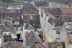 Old roofing. Roofing of constructions and buildings from old city Stock Photography
