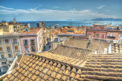 Old roofs in Cagliari, Italy Royalty Free Stock Photo