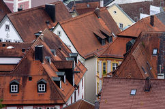 Old roofs of german city, Eichstaett, Bavaria Royalty Free Stock Photos