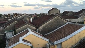 Old roofs in Hoi An ancient town stock video footage