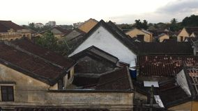 Old roofs in Hoi An ancient town stock footage
