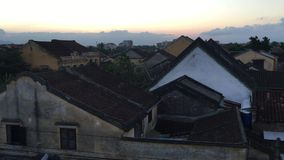 Old roofs in Hoi An ancient town stock video