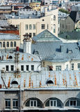 Old roofs of houses stock photos