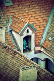 Old Roofs. An icon on the roof Stock Photography