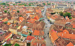 Old roofs of Sibiu city centre. Romania Stock Image