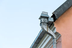 Old rooftop gutter Royalty Free Stock Image