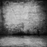 Old room. An empty dark dungeon wall Historical prison wall concept Stock Photo