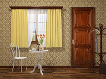 Old room. An image of a old room with wooden interior Royalty Free Stock Photos