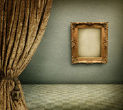 Old room. With empty picture frame Stock Photography