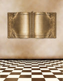 Old room with ancient gold book Royalty Free Stock Images
