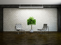Old room with armchairs Royalty Free Stock Images