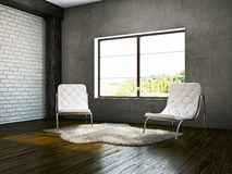 Old room with armchairs Royalty Free Stock Photo