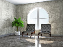 Old room with armchairs Royalty Free Stock Image