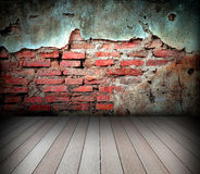 Old room with brick wall royalty free stock photo