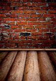 Old room with brick wall Royalty Free Stock Images