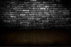 Old room with brick wall Stock Image