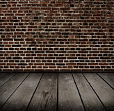 Old room with brick wall . Royalty Free Stock Images