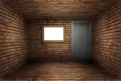 Old room brick wall texture Royalty Free Stock Image