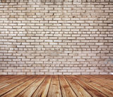 Old room with brick wall Stock Photos