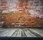 Old room with brick wall Royalty Free Stock Photography