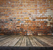 Old room with brick wall Stock Images