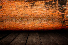 Old room with brick wall, vintage background Stock Photography