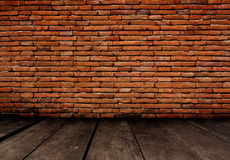 Old room with brick wall, vintage background Royalty Free Stock Photo