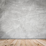 Old room cement wall interior vintage and wood floor Stock Photography