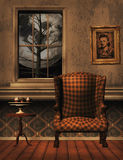 Old room with chair and cake 3D,CG Royalty Free Stock Image
