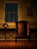 Old room with chair and lamp 3D,CG Royalty Free Stock Image