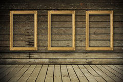 Old room with empty picture frame Royalty Free Stock Photo