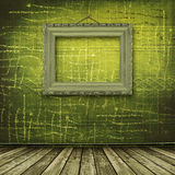 Old room, grunge  interior with frame Stock Image