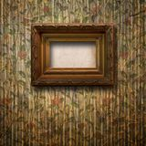 Old room, grunge interior with frame Stock Photos