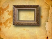 Old room, grunge interior with frame Royalty Free Stock Photography